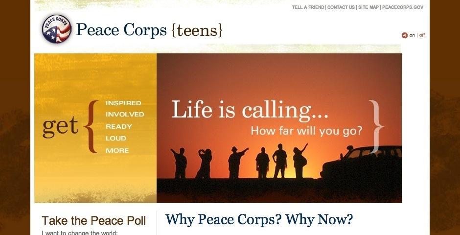 2008 Webby Winner - Peace Corps {teens}