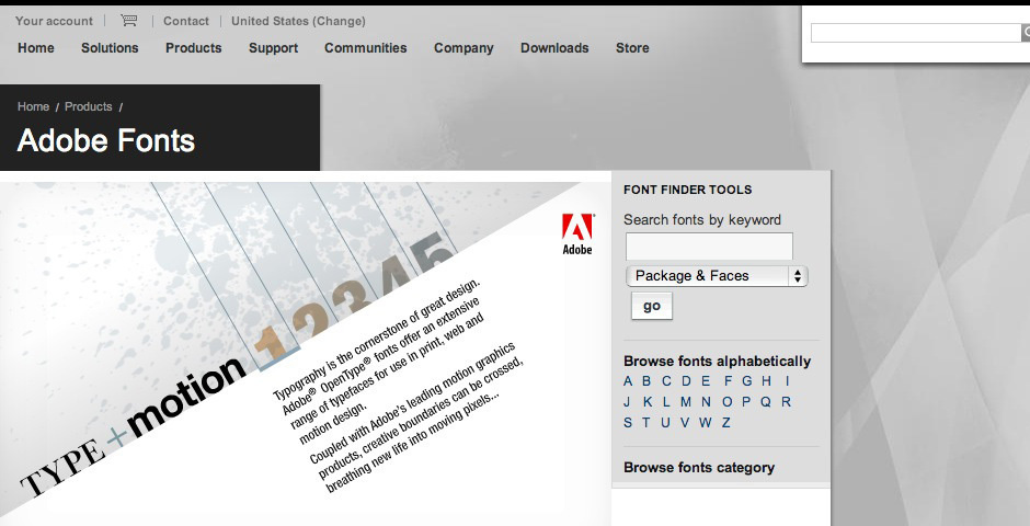 2008 Webby Winner - Adobe Type+Motion