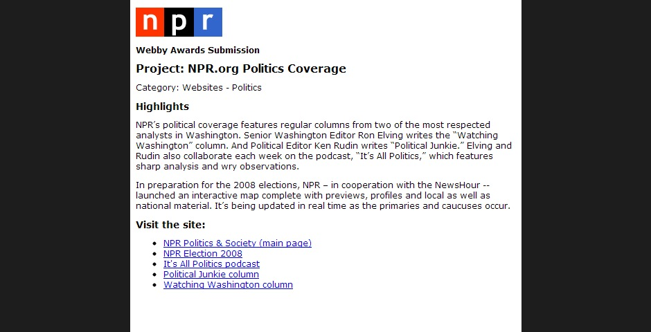 Nominee - NPR.org Political