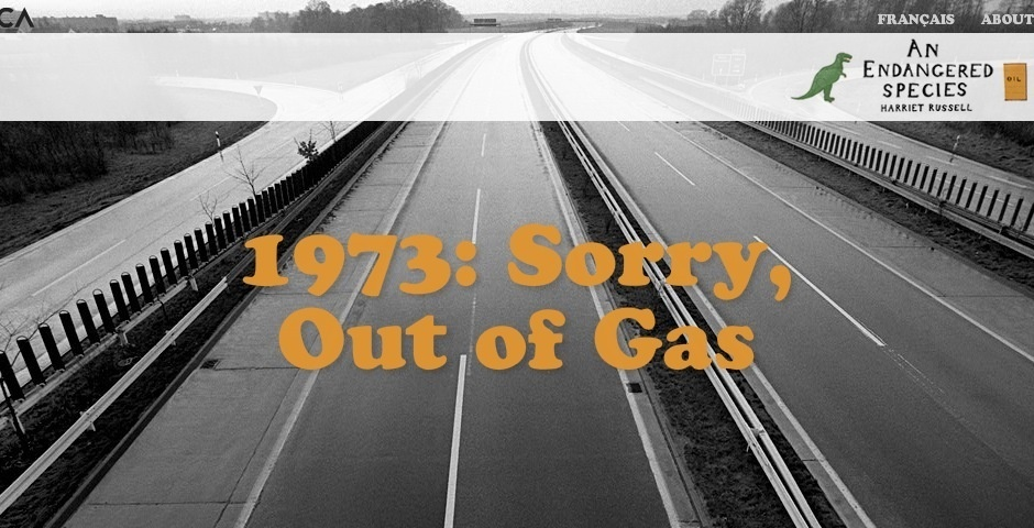 Webby Award Nominee - Sorry, Out of Gas