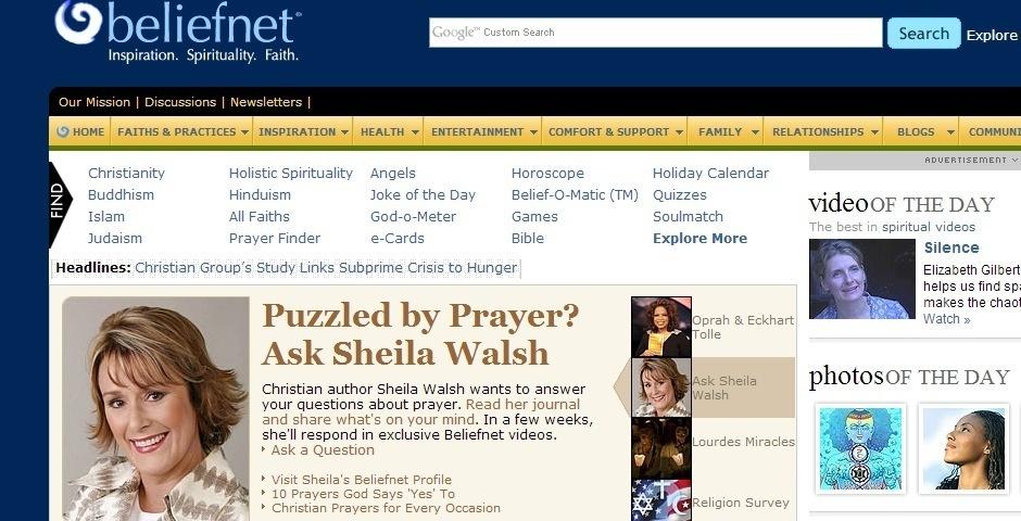 2008 Webby Winner - Beliefnet