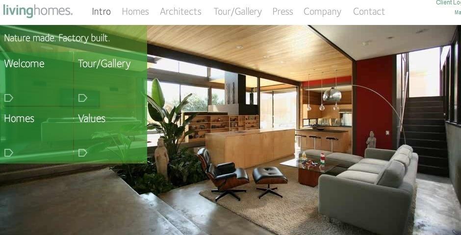 Webby Award Nominee - Living Homes