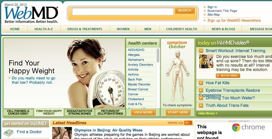2008 Webby Winner - WebMD