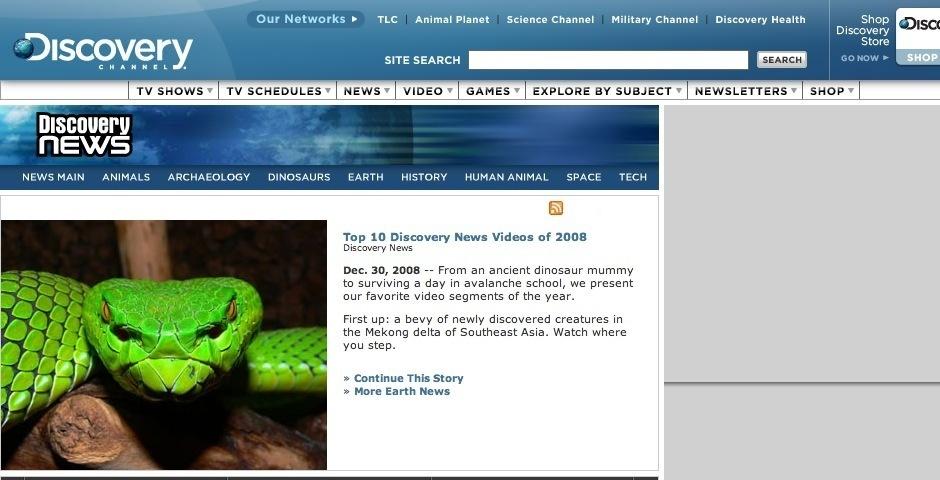 Webby Award Nominee - Discovery News