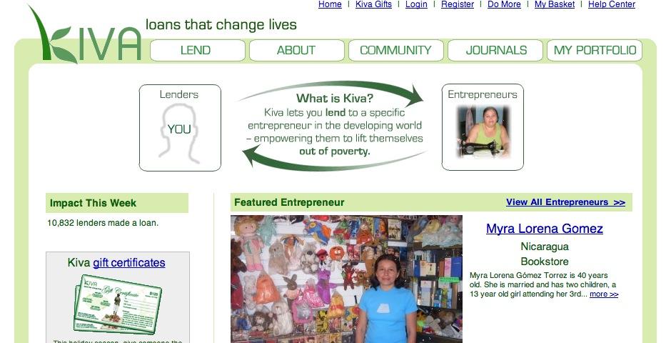 Honoree - Kiva.org — Loans that Change Lives