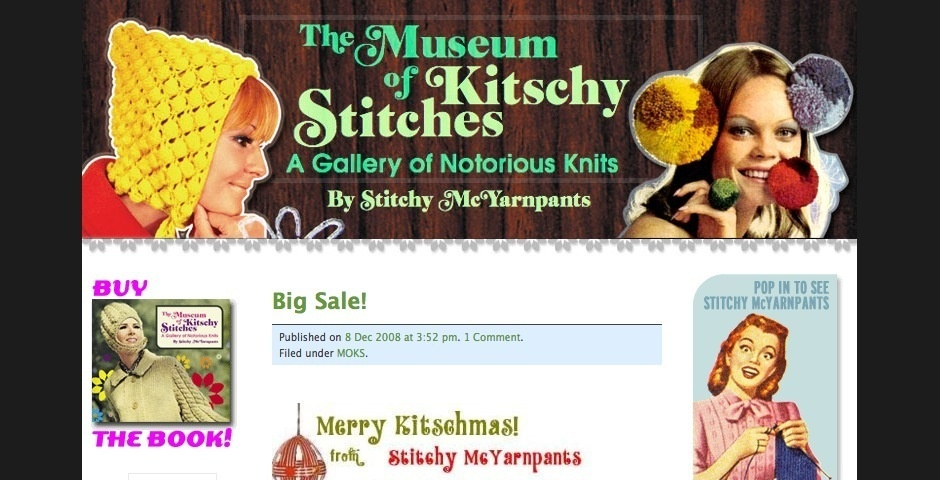 Webby Award Nominee - Museum of Kitschy Stitches