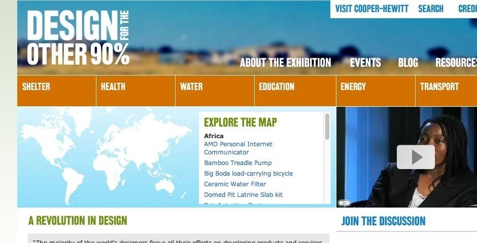 2008 Webby Winner - Design for the Other 90%