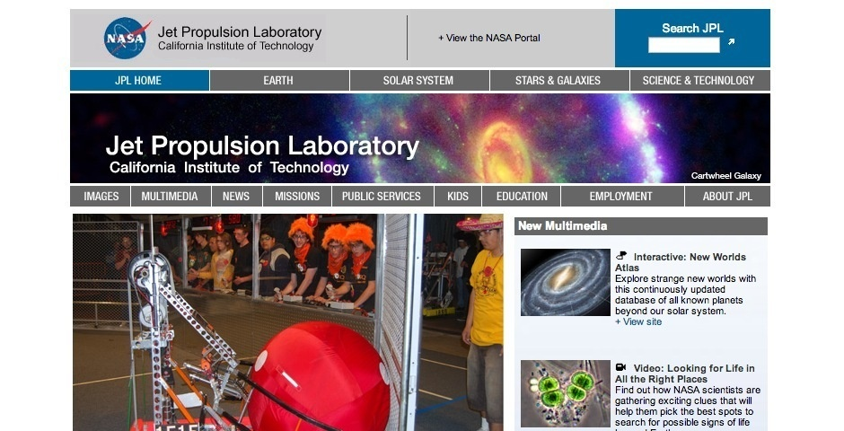 Webby Award Nominee - NASA\'s Jet Propulsion Laboratory