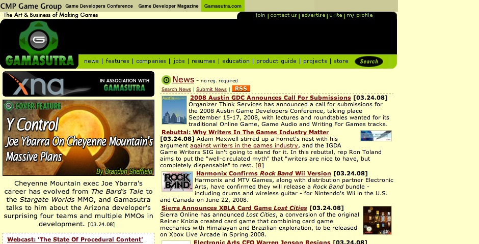 Nominee - Gamasutra.com