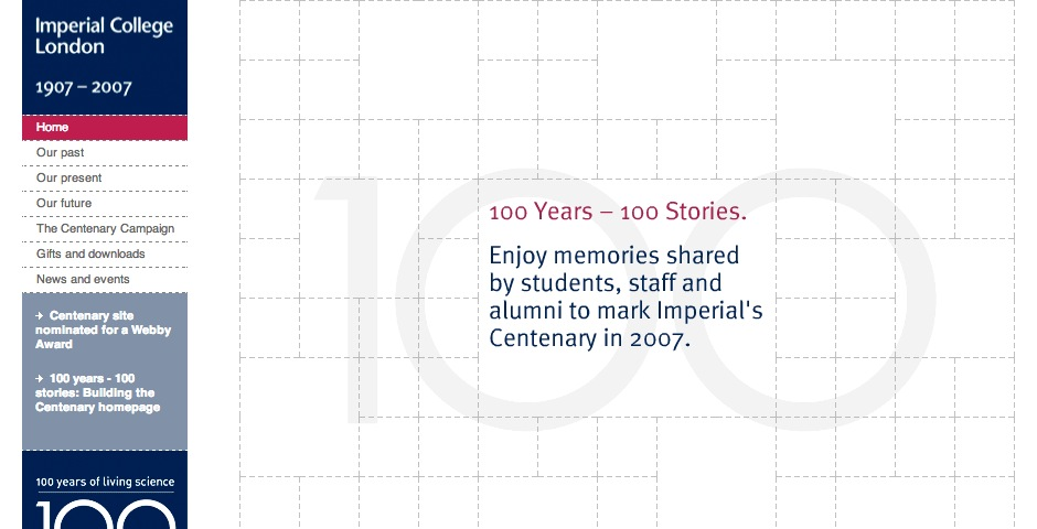 Nominee - Imperial College London Centenary microsite