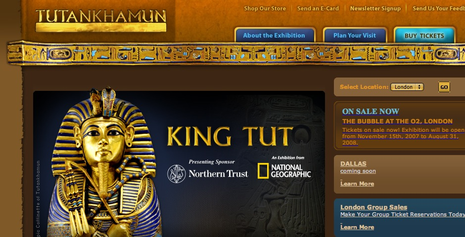 People's Voice - King Tut and the Golden Age of the Pharaohs Exhibition