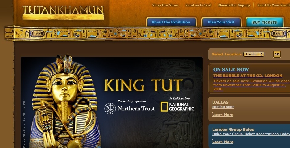 2008 Webby Winner - King Tut and the Golden Age of the Pharaohs Exhibition