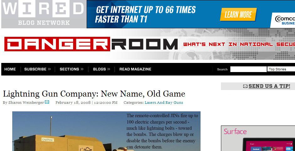 Webby Award Nominee - Danger Room Blog on Wired.com