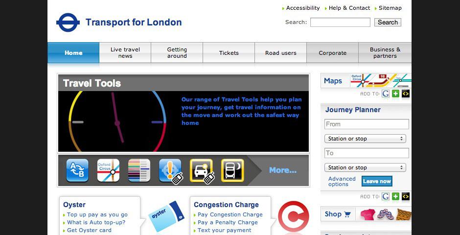 2008 Webby Winner - Transport for London