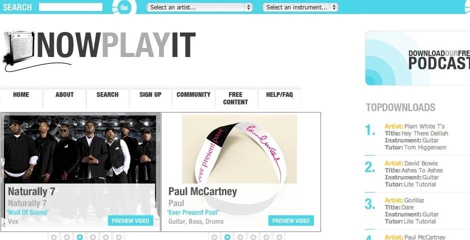 Webby Award Nominee - Now Play It