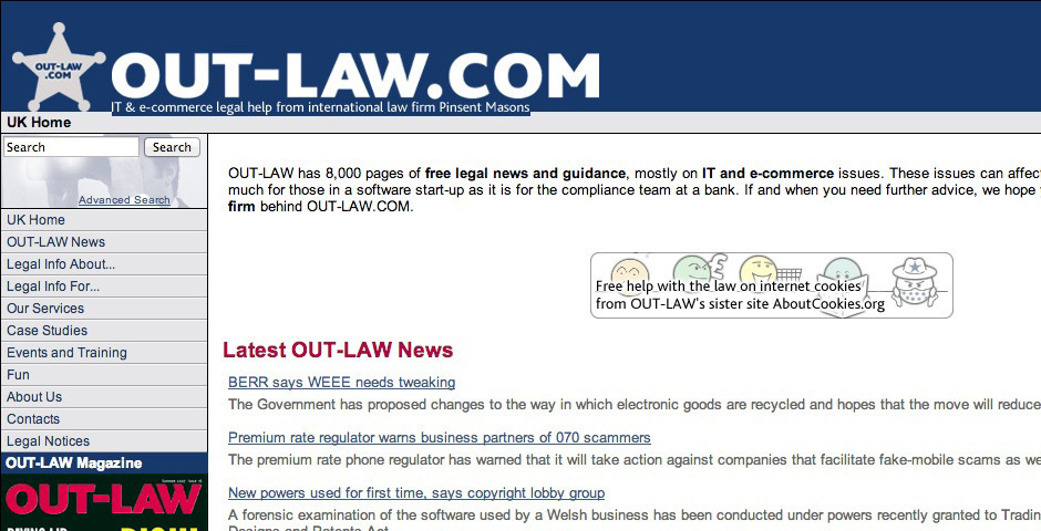 2008 Webby Winner - OUT-LAW.COM