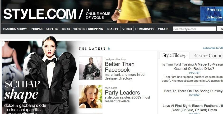 2008 Webby Winner - style.com