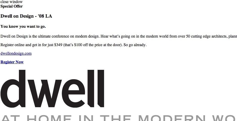 Webby Award Nominee - Dwell.com