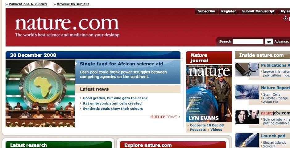 2008 Webby Winner - nature.com