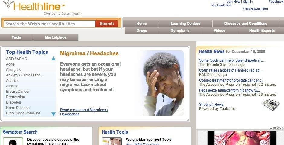 Webby Award Nominee - Healthline