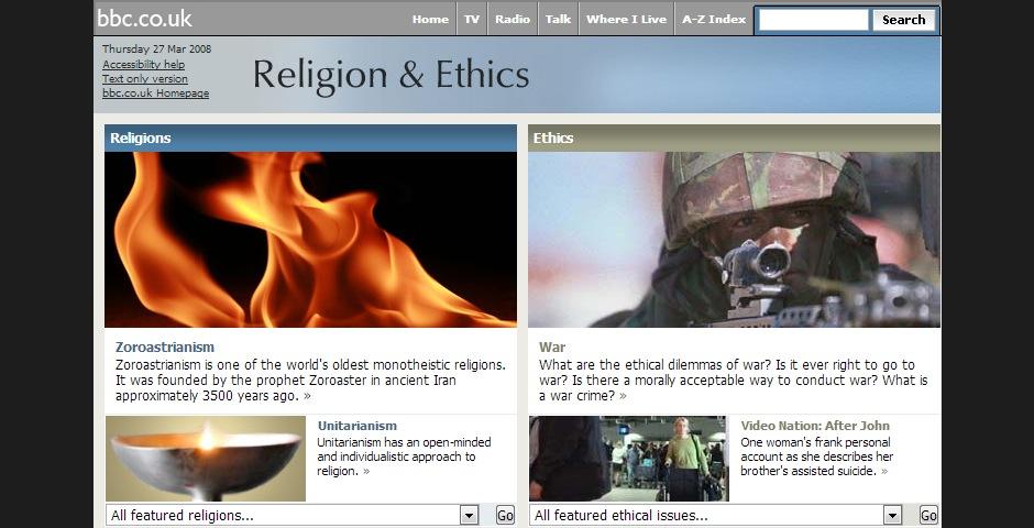 Nominee - BBC Religion & Ethics
