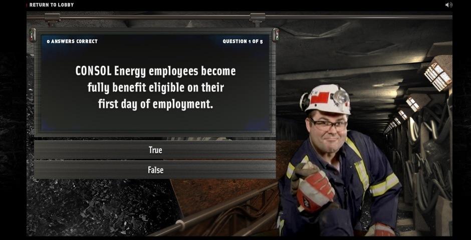 Webby Award Winner - Consol Energy Recruiting Website