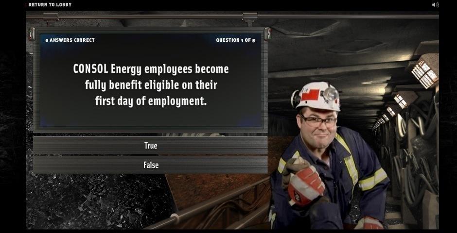 2008 Webby Winner - Consol Energy Recruiting Website