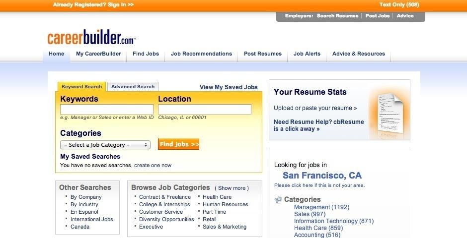 2008 Webby Winner - CareerBuilder.com