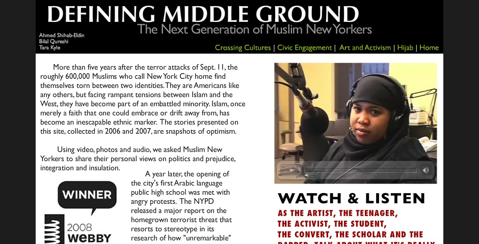 Webby Award Winner - Defining Middle Ground: The Next Generation of Muslim New Yorkers