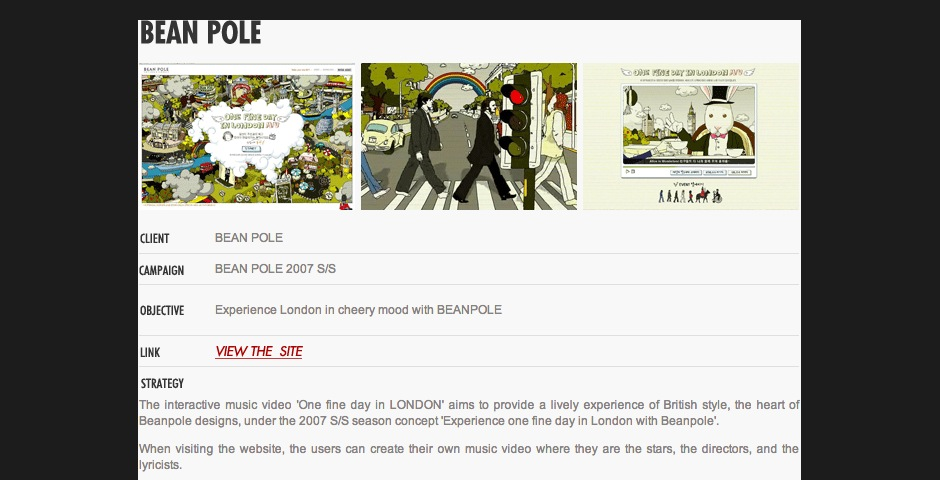 Nominee - Bean Pole : One fine day in LONDON