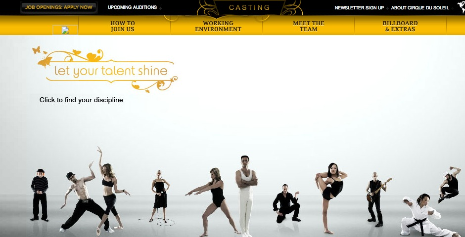 Nominee - Cirque du Soleil – Casting