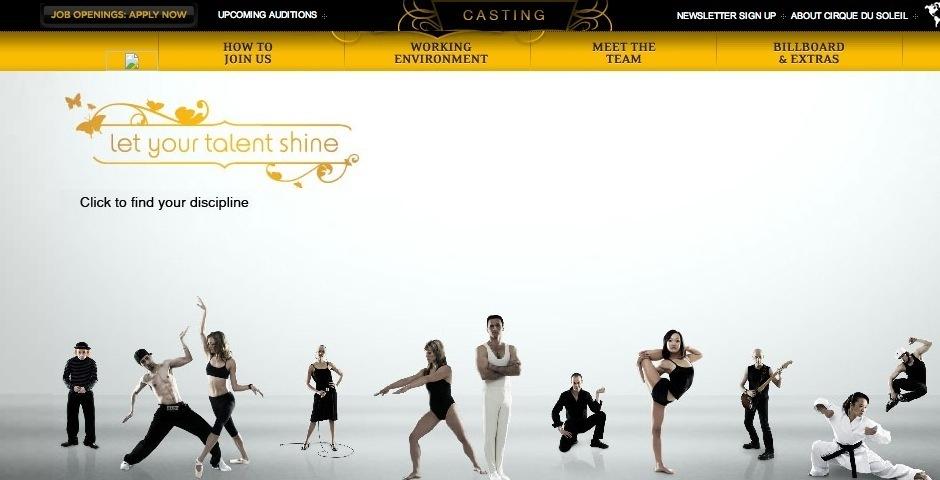 Webby Award Nominee - Cirque du Soleil - Casting