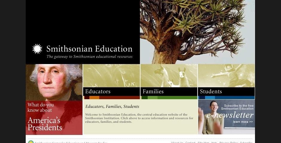 2008 Webby Winner - Smithsonian Education