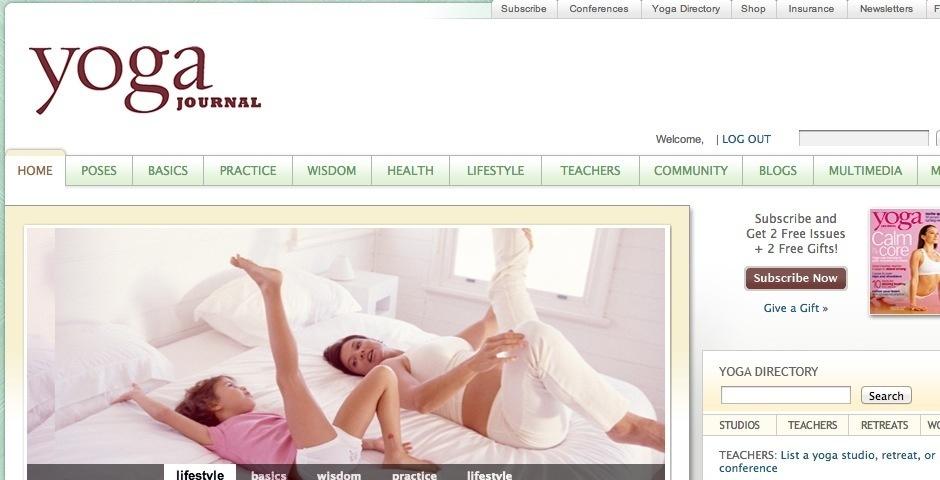 Webby Award Nominee - Yoga Journal
