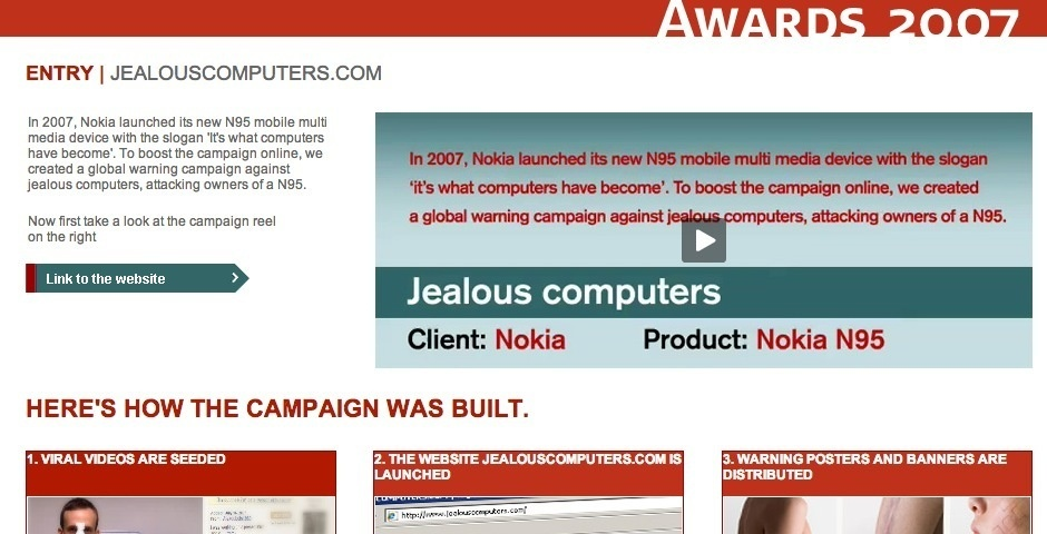 Webby Award Nominee - Nokia Jealous Computers