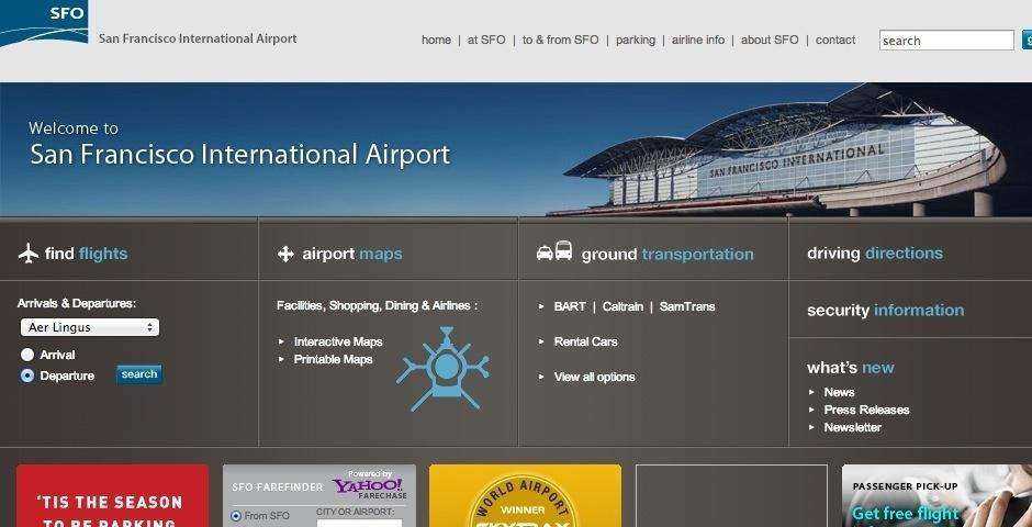 Webby Award Nominee - San Francisco International Airport