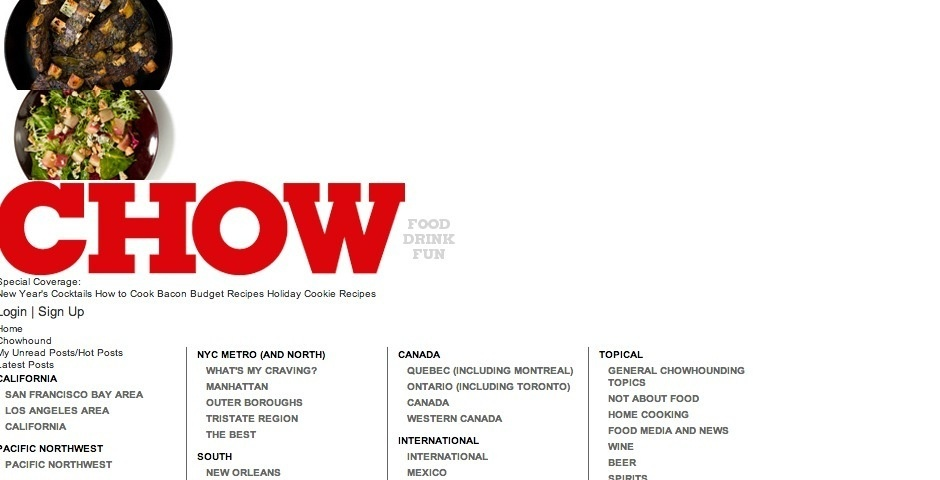 2008 Webby Winner - CHOW