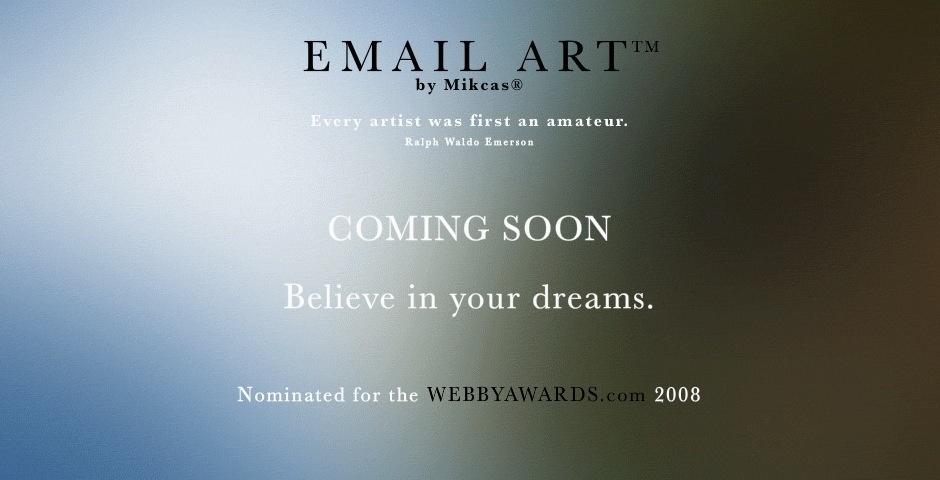 Webby Award Nominee - EMAIL ART
