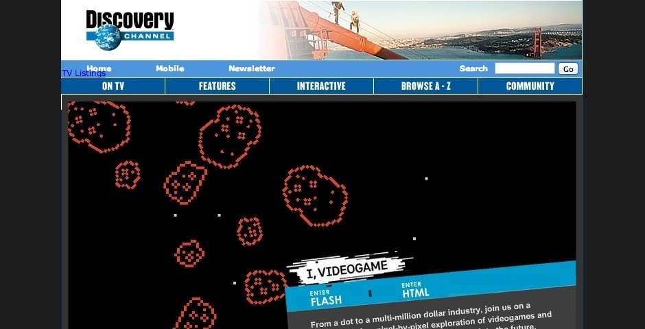 2008 Webby Winner - Discovery Channel >> I Videogame