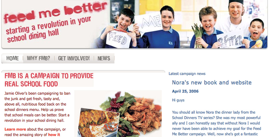 People's Voice - 'Feed Me Better' campaign for healthier school meals