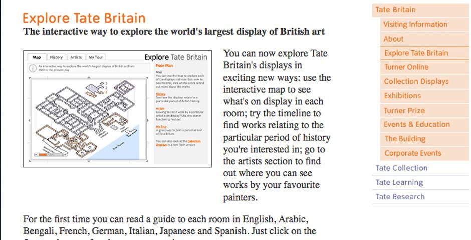 Webby Award Nominee - Explore Tate Britain