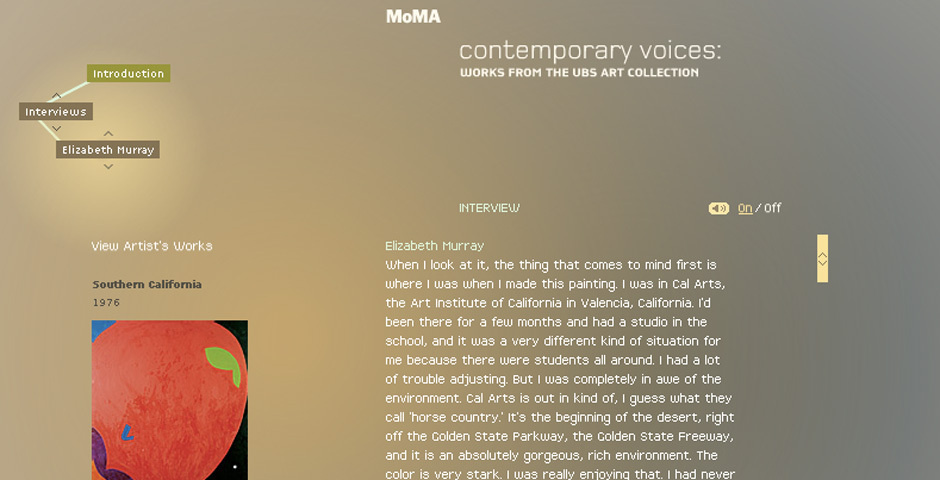 2006 Webby Winner - MoMA: Contemporary Voices