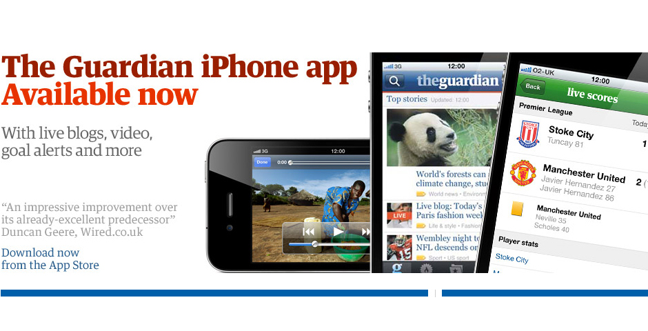 Nominee - Guardian iPhone app