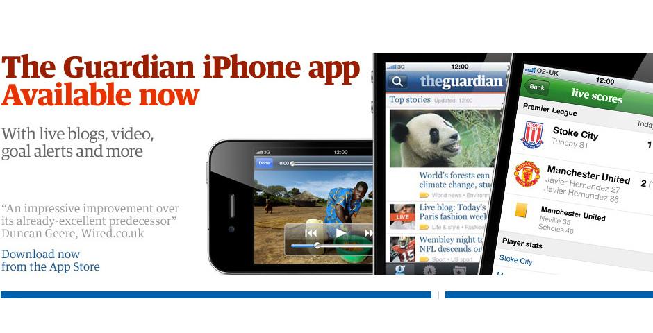 Webby Award Nominee - Guardian iPhone app