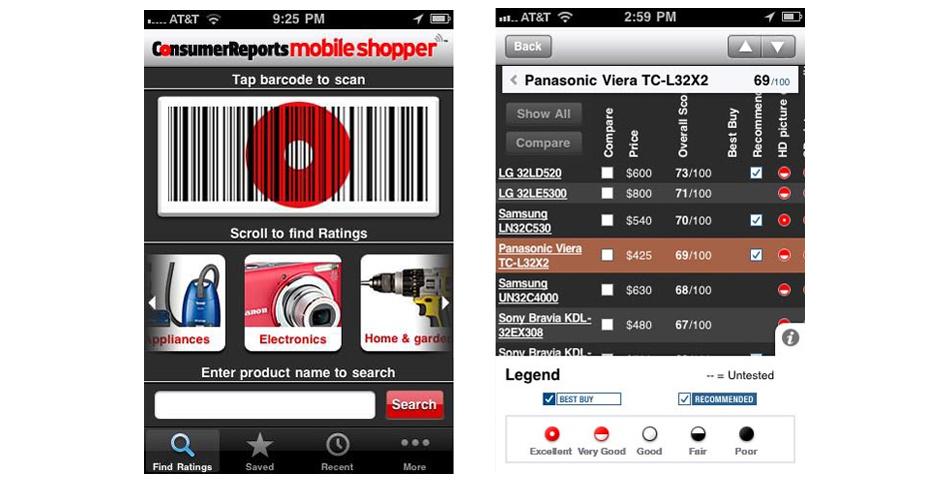 Webby Award Nominee - Consumer Reports Mobile Shopper app