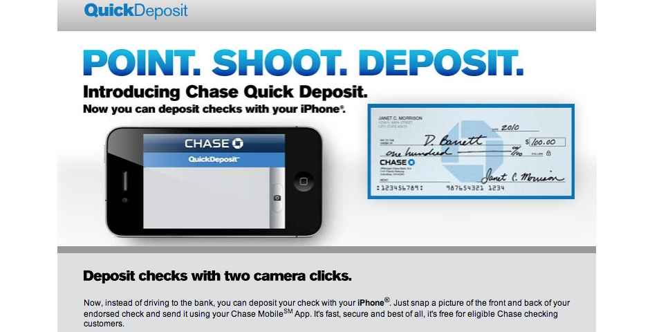 Chase Quick Deposit -- The Webby Awards