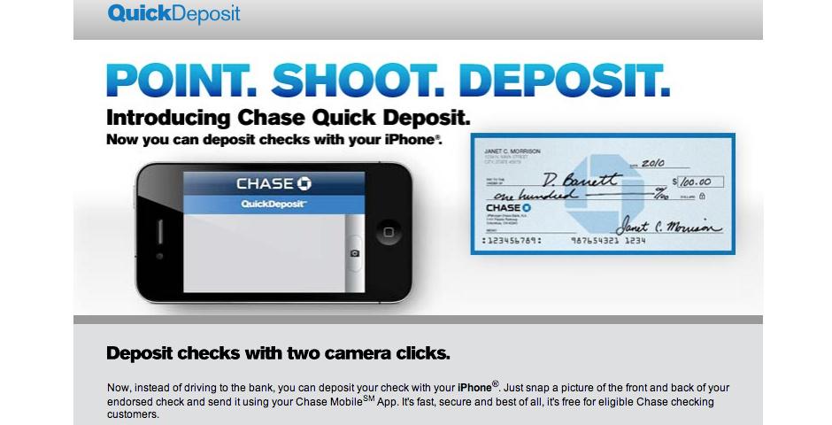2011 Webby Winner - Chase Quick Deposit