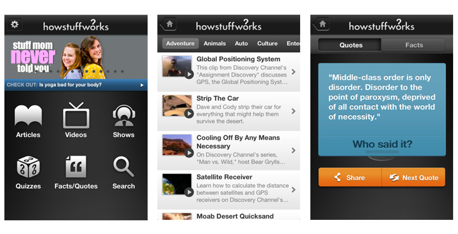 People's Voice / Webby Award Winner - HowStuffWorks App