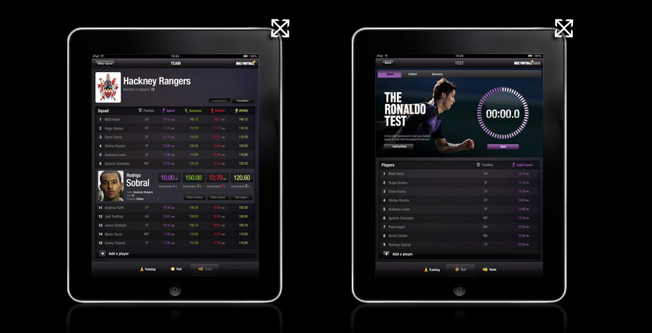 Webby Award Nominee - Nike Football+ Team Edition for iPad