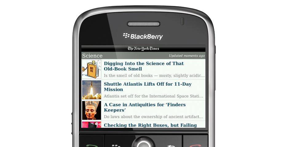 2011 Webby Winner - Mobile - The New York Times